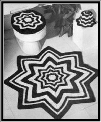 Crochet Bathroom Set - Pattern for Crochet Rug, Toilet Seat Cover and Tissue Topper Download Crochet Patterns