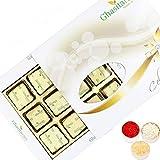 Ghasitaram Gifts Bhaidooj Ghasitarams Chocolates Assorted Chocolates 12 Pcs White Box-200gms