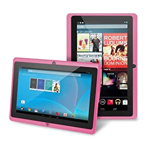 """Chromo Inc® 7"""" Tablet Google Android 4.1 with Touchscreen, Camera, 1024x600 Resolution, Netflix, Skype, 3D Game Supported - Pink [New Model June 2014]"""