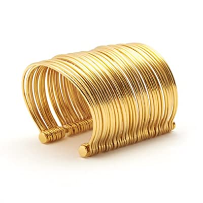 Gold Wires Cuff by Sibilia