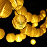 [Updated 30 LEDs 20ft ] Outdoor Lantern Ball Solar String Lights - LUCKLED Fairy Globe Christmas Lights Decorative Lighting for Indoor - Garden - Home - Patio - Lawn - Party and Holiday Decorations