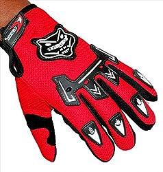 Sylan's Knighthood _AMRGLKNB01 Bike Riding Gloves (Red_Large) ...