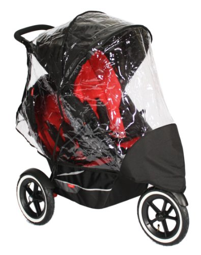 phil&teds Stormy Weather Cover for Double Classic or Explorer Stroller