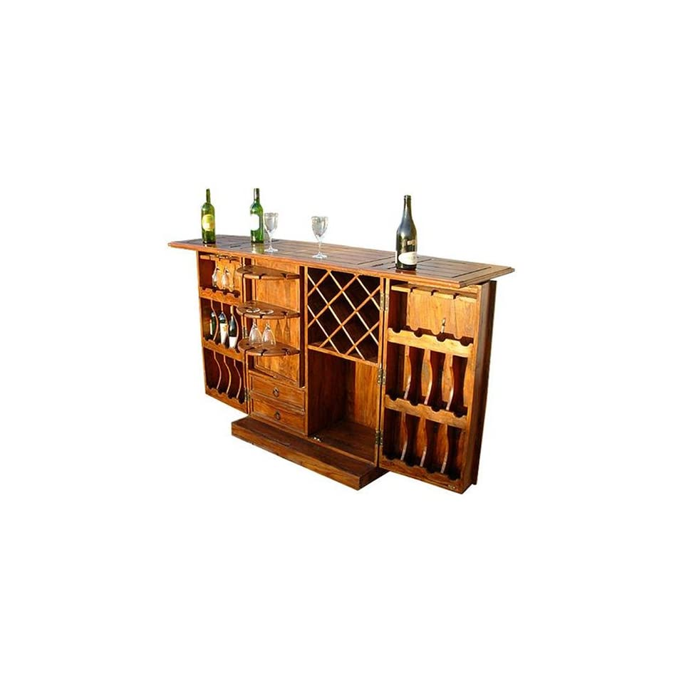 Wood Storage Home Bar Wine Rack Liquor Cabinet Furniture Decor