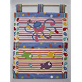 LARGE HAND MADE DESIGNER FABRIC BABY NURSERY WALL HANGING WITH APPLIQUEby Lizzy-lou
