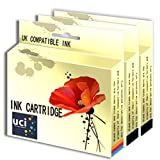UCI 1Set + 1BK Remanufactured Ink Cartridge For HP Deskjet Printer Replace HP338 HP343 ( Non-Original )
