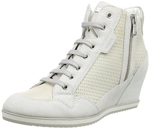GeoxIllusion A - Pantofole a Stivaletto donna , Bianco (White (Off White)), 39 EU
