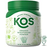 KOS Organic Wheatgrass Powder – Premium Raw Wheat Grass Juice Powder USDA Vegan Plant Based Ingredient, 360.4g (12.7oz)