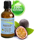 MARACUJA OIL. 100% Pure / Natural. Cold Pressed / Undiluted. For Face, Hair And Body.By Botanical Beauty (2 Fl.oz.- 60 ml Plastic Bottle With Pump)