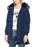 Guess Chaqueta Guateada Hooded Fur (Azul Oscuro)