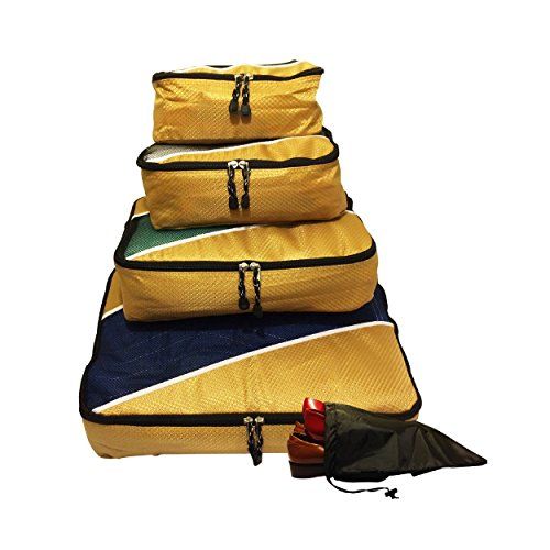 Evatex Travel Packing Cubes, Set of 4 Pieces