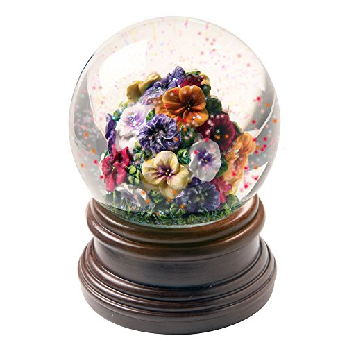 Exclusive Pansies Musical Water Globe