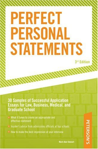 excellent personal statements for graduate school