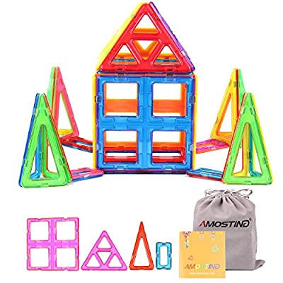AMOSTING Magnetic Building Blocks Large Size Toy Tiles Sheet Kit - 26pcs
