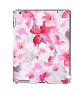 Fuson 3D Printed Flower Wallpaper Designer Back Case Cover for Apple iPad 2 - D837