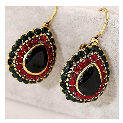 mr-ribbt-mujer-fashion-jewelry-estilo-etnico-bohemia-redondo-earings-negro