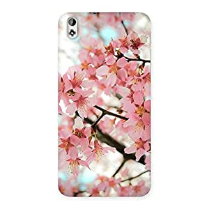 Special Cherry Blossoms Multicolor Back Case Cover for HTC Desire 816