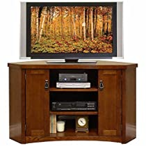 "Hot Sale Mission Pasadena Corner TV Console (Mission Oak) (51""W x 30""H x 20""D)"