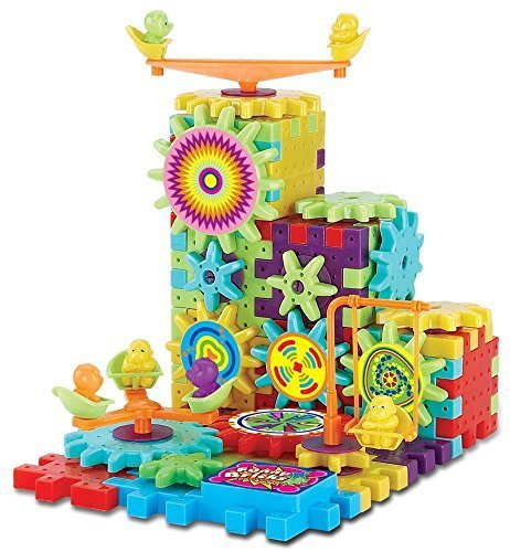 81-Piece-Funny-Bricks-Gear-Building-Toy-Set-Interlocking-Learning-Blocks-Motorized-Spinning-Gears