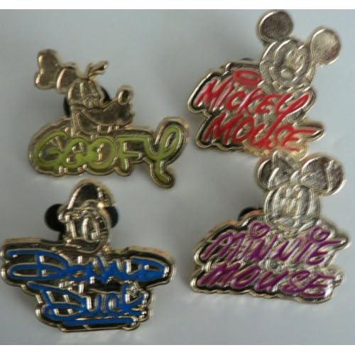 Disney Trading Pin Gold Characters Signature SET Lot