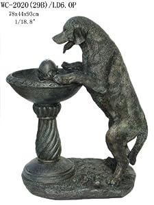 Amazon.com : Garden Outdoor Indoor Labrador Dog Statue Sculpture Water