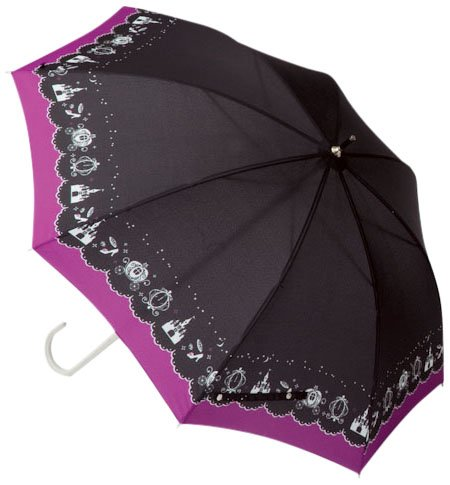 1064メルヘン晴雨兼用長傘ブラック
