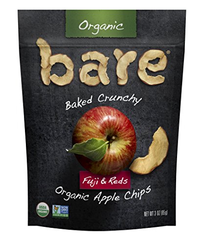 Bare Organic Apple Chips, Fuji & Reds, Gluten Free + Baked, 3 Ounce , 6 Count (Bare Fruit Fuji Apple Chips compare prices)