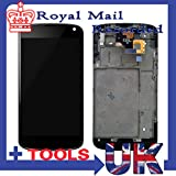 Lcd screen display+touch panel digitizer Assembly for LG Google Nexus 4 E960 with Frame / middle chassis