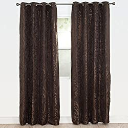 Bedford Home Dinah Jacquard Curtain Panel, 84