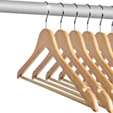 Jago HZKB02 Hangers Pack of 20 Pcs Pieces Premium Quality Wooden Coat Clothes Hangers Setby Jago