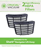 2 Shark Navigator Lift-Away Professional Vacuum NV355, NV356, NV356E, NV357, NV350E, NV400 Washable Post-Motor HEPA Filters; Replaces Shark Part# XHF350 ; Designed & Engineered by Crucial Vacuum