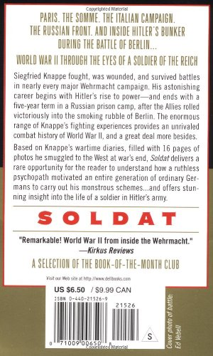 Soldat: Reflections of a German Soldier, 1936-1949 (Dell War)