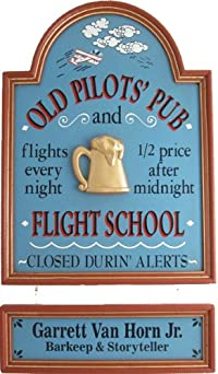 Old Pilot's Pub - Flight School Personalized Framed 18x24