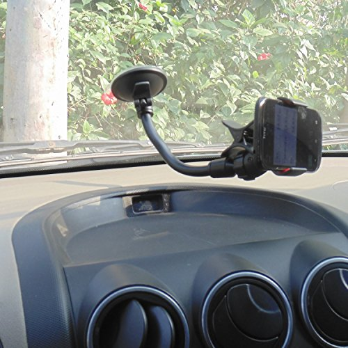 Car Phone holder Long Arm Universal Car Mount Holder With 360 Degree Rotation Suction Cup for Apple iPhone 6 PLUS/6/5s/5c, Samsung Galaxy S6/S5/S4 and Other Android Phones