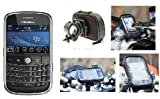 Motorcycle, Bike Handlebar Mount with Waterproof Case fits the Blackberry Bold 9000 Mobile Phone