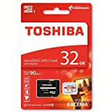 #4: Toshiba Exceria M302 32GB Micro SD Memory Card 90 MB/s 4K - Recommended for Action Cameras, GoPRO Hero 4 & Hero 5