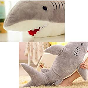 Cute Shark Pillow : Amazon.com: New 70cm Cute Shark Shaped Plush Toy Pillow Back Cushion Doll Gift Animal Bolster ...