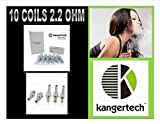 10 COILS MT3S T3S Replacement Head Coils 2.2 Ohm Genuine