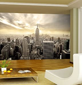 wallpaper new york skyline 165 3 x 106 3 inches wall. Black Bedroom Furniture Sets. Home Design Ideas