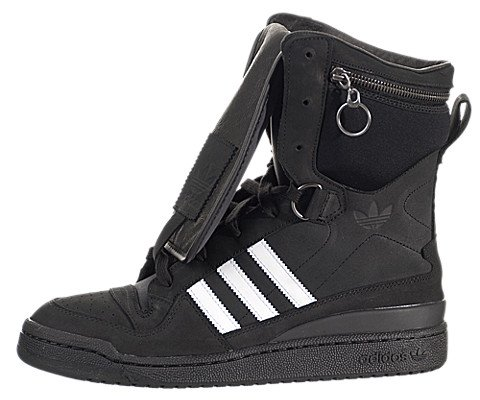 Adidas Jeremy Scott Tall Boy - Black / Black-Run White, 10 D Us back-1058717