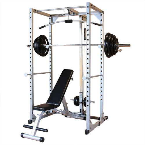 Powerline Pprpack5 Power Rack Package With Rubber Grip Weights front-620902