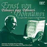 Dohnanyi Plays Dohnanyi: The Complete HMV Solo Piano Recordings, 1929-1956