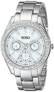 XOXO Women's XO5301A Rhinestone-Accented Silver-Tone Bracelet Watch