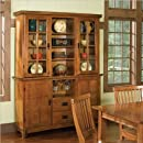 Home Style 5180 697 Arts And Crafts Buffet And Hutch Cottage Oak Finish