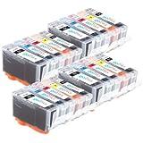 4 Compatible Sets of 5 HP 364 XL Printer Ink Cartridges for HP Photosmart 7510, 7520, B8550, B8553, C5380, C5383, C5390, C6300, C6380, D5460, D5463, D5468, D7560, Photosmart eStation C510, C510a, Photosmart Premium C309, C309g, C309h, C309n, C310, C310a,