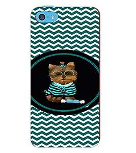 PRINTVISA Cute Cat Case Cover for Apple iPhone 5C