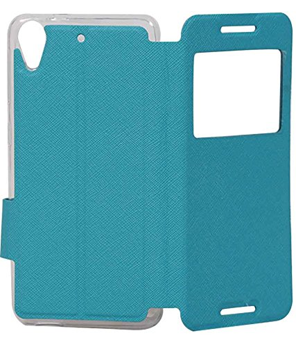 Sky Blue Exclusive Caller ID Flip Case Cover For HTC Desire 626 / 626G Plus (626G+)