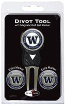 NCAA Washington Huskies 3 Marker Signature Golf Divot Tool Pack
