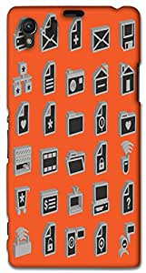 Timpax protective Armor Hard Bumper Back Case Cover. Multicolor printed on 3 Dimensional case with latest & finest graphic design art. Compatible with Sony L39H - Sony 39 Design No : TDZ-28727