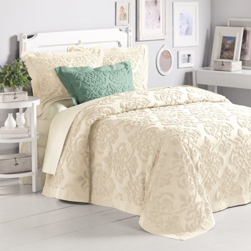 5 best price linen damask chenille bedspread king for Chenille bedspreads